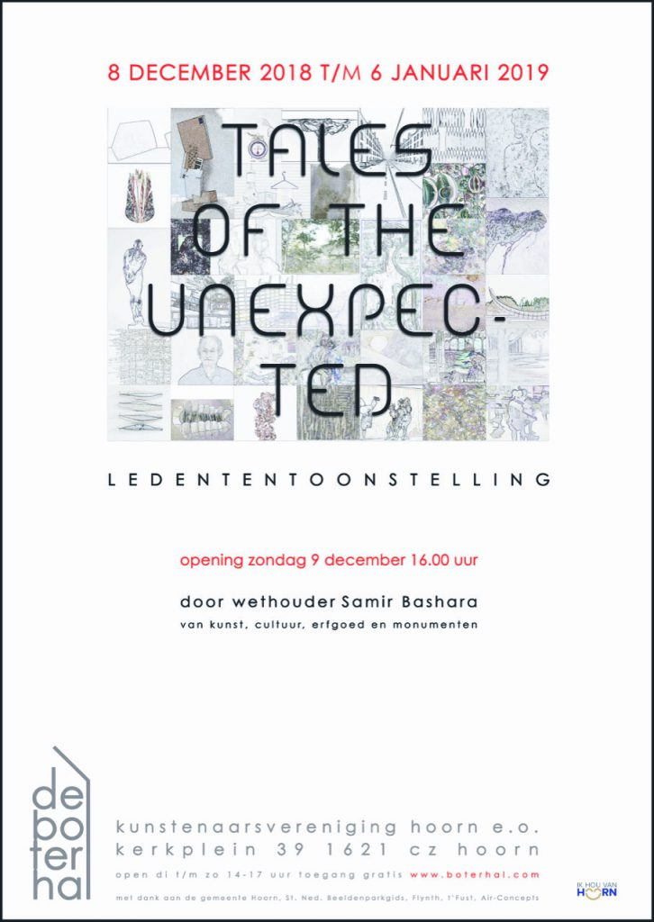 Poster ledententoonstelling -Tales of the unexpected-