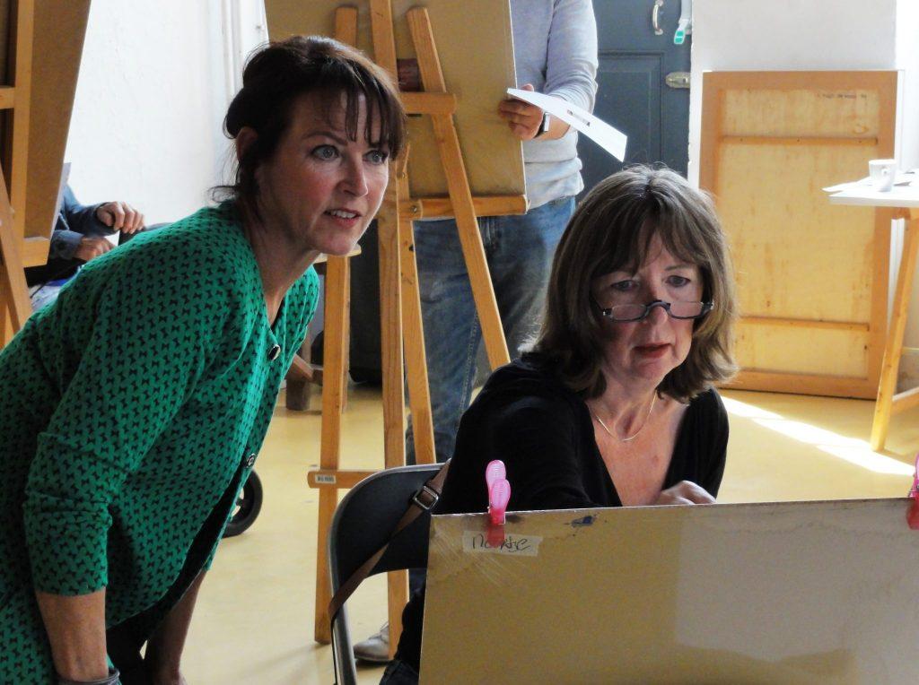workshop van Noortje Peerdeman met deelneemster