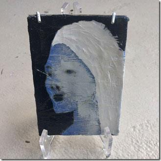 Kunstwerk van Annelies Horden - portret uit serie van 5