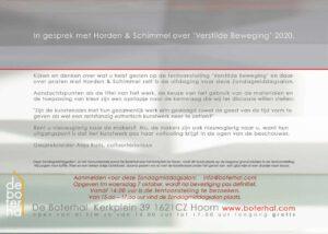 Uitnodiging Zondagmiddagsalon Horden & Schimmel