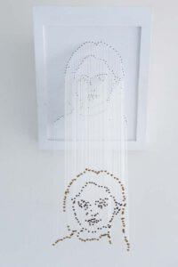 Kunstwerk Portret vooraanzicht Marisja Weegberg